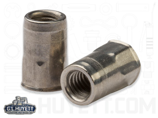 M8 x 1.25 316 Stainless Steel Metal Eye Clevis.